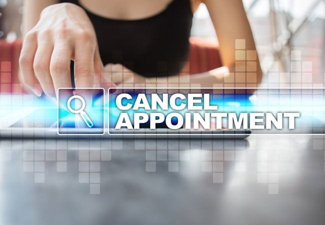 cancelling an appointment